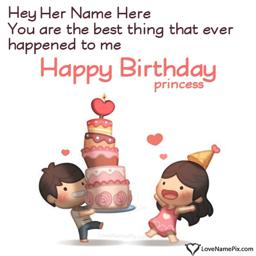 Cute Birthday Wishes For Girlfriend Name Generator