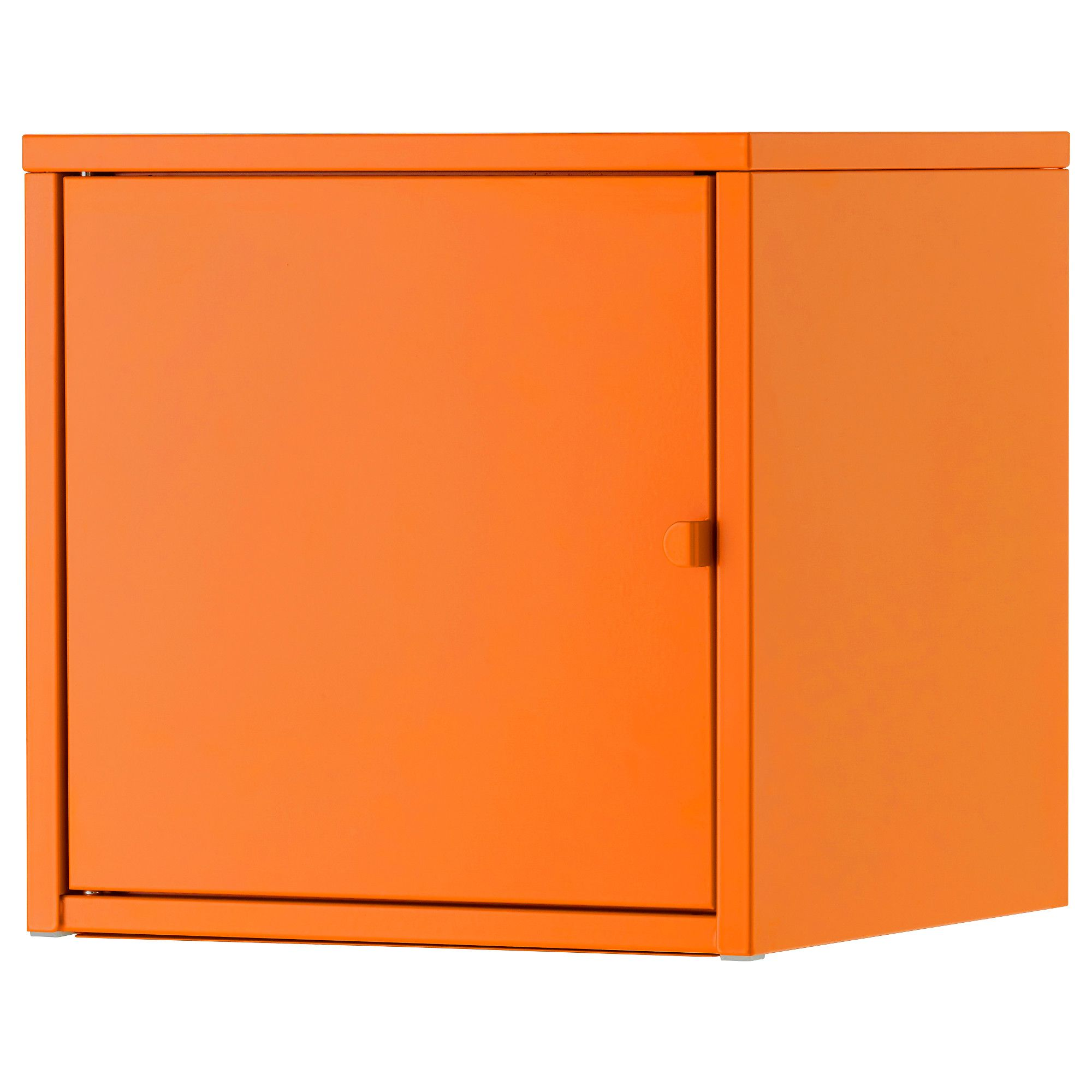 Locker Storage Ikea Lixhult Cabinet, Metal, Orange | Becky And Dave | Display