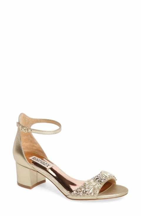 d8c2404a278 Badgley Mischka Tamara Crystal Block Heel Sandal (Women)