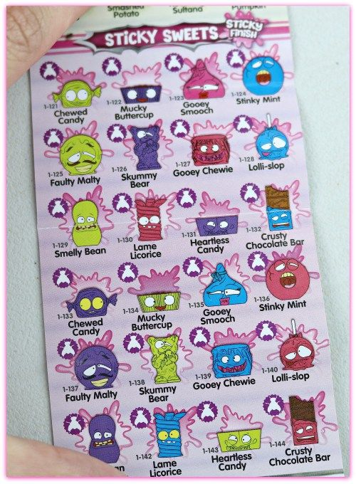 Grossery Gang Sticky Sweets Character List Collecting