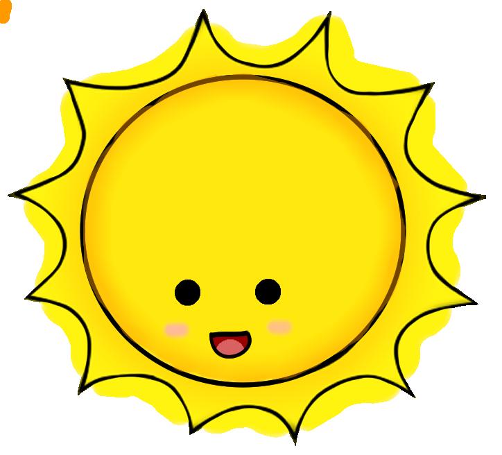 kawaii sun clipart 1 Cute sun, Sun clip art, Apple clip art