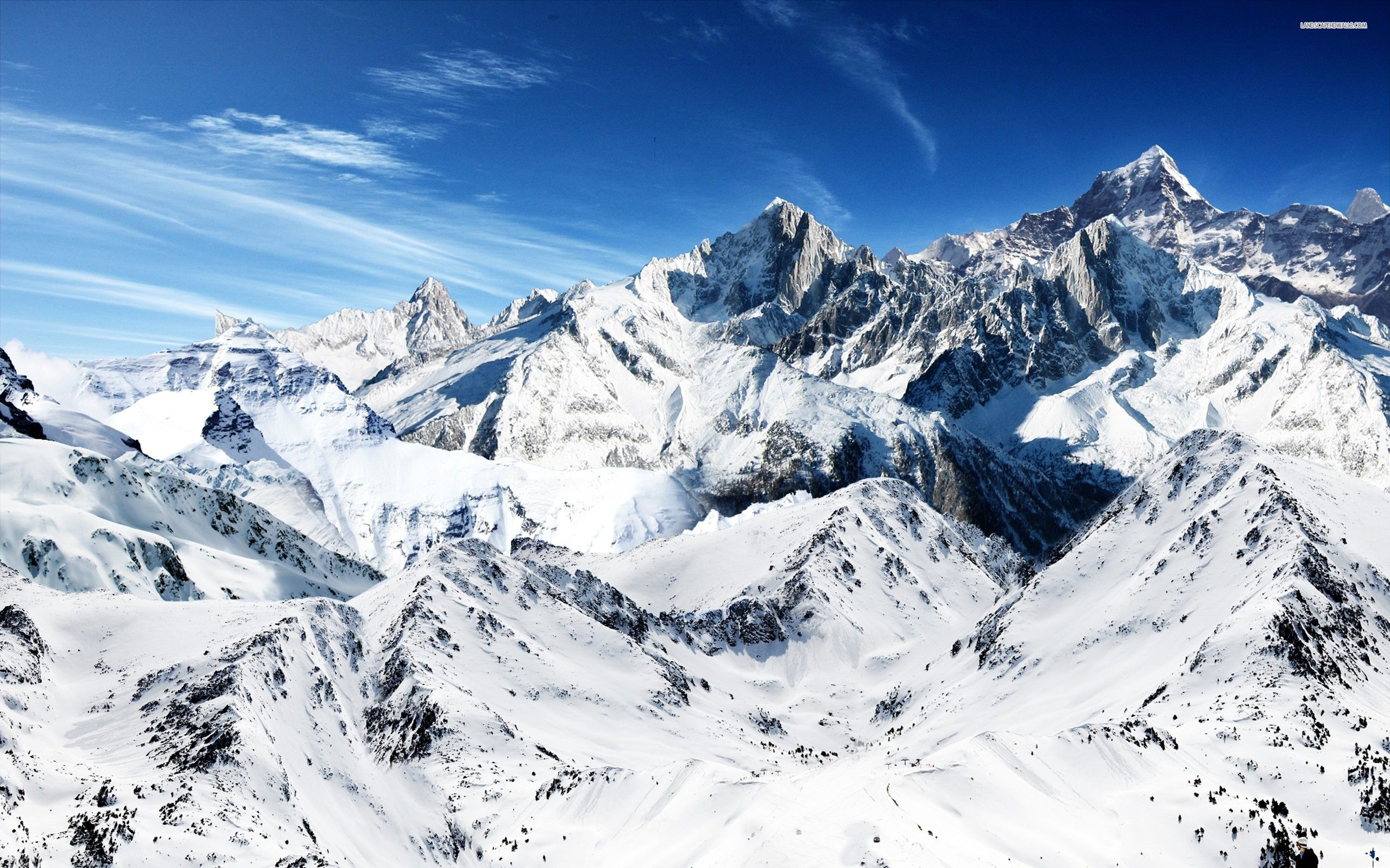 Snow Mountain Wallpaper 2560x1600 68877 With Images