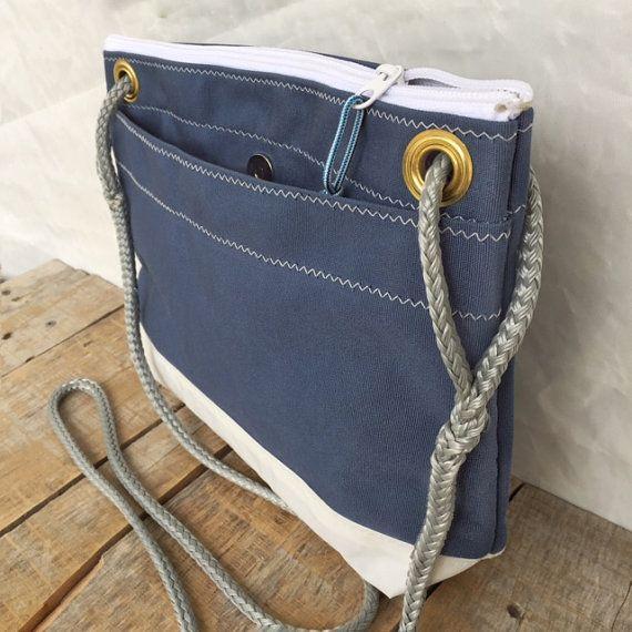 Medium Corsica Crossbody Bag Recycled Sail Bag by OldeDog on Etsy