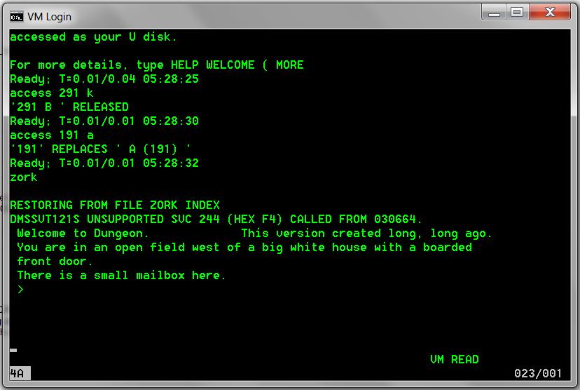 Zork on the IBM Mainframe (VM/370 CMS     | Retro Tech | Ibm