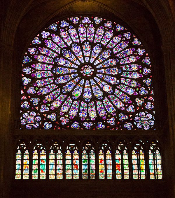 stained glass // Traversing Paris