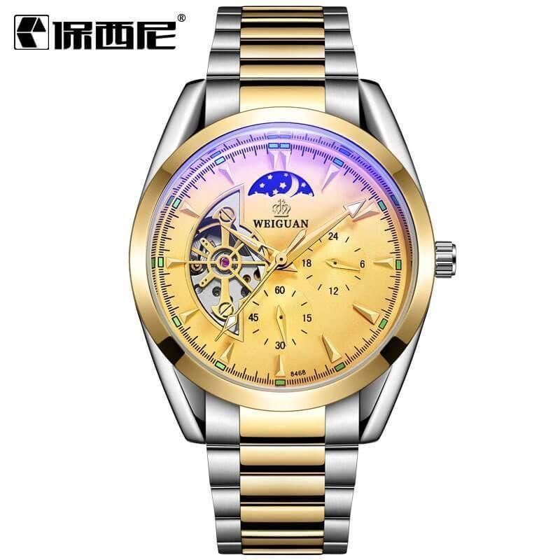 Men Luxury Automatic Mechanical Stainless Steel Waterproof Watch #stainlesssteelrolex