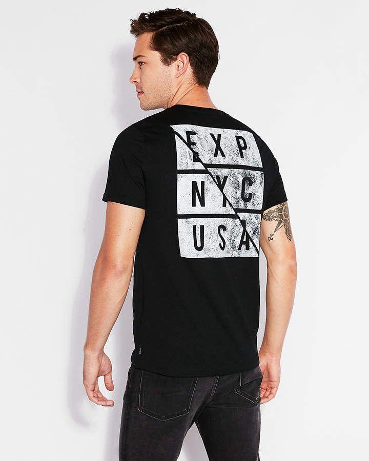 f011e626ba1 Express Exp Nyc Logo Crew Neck Graphic Tee Express Men