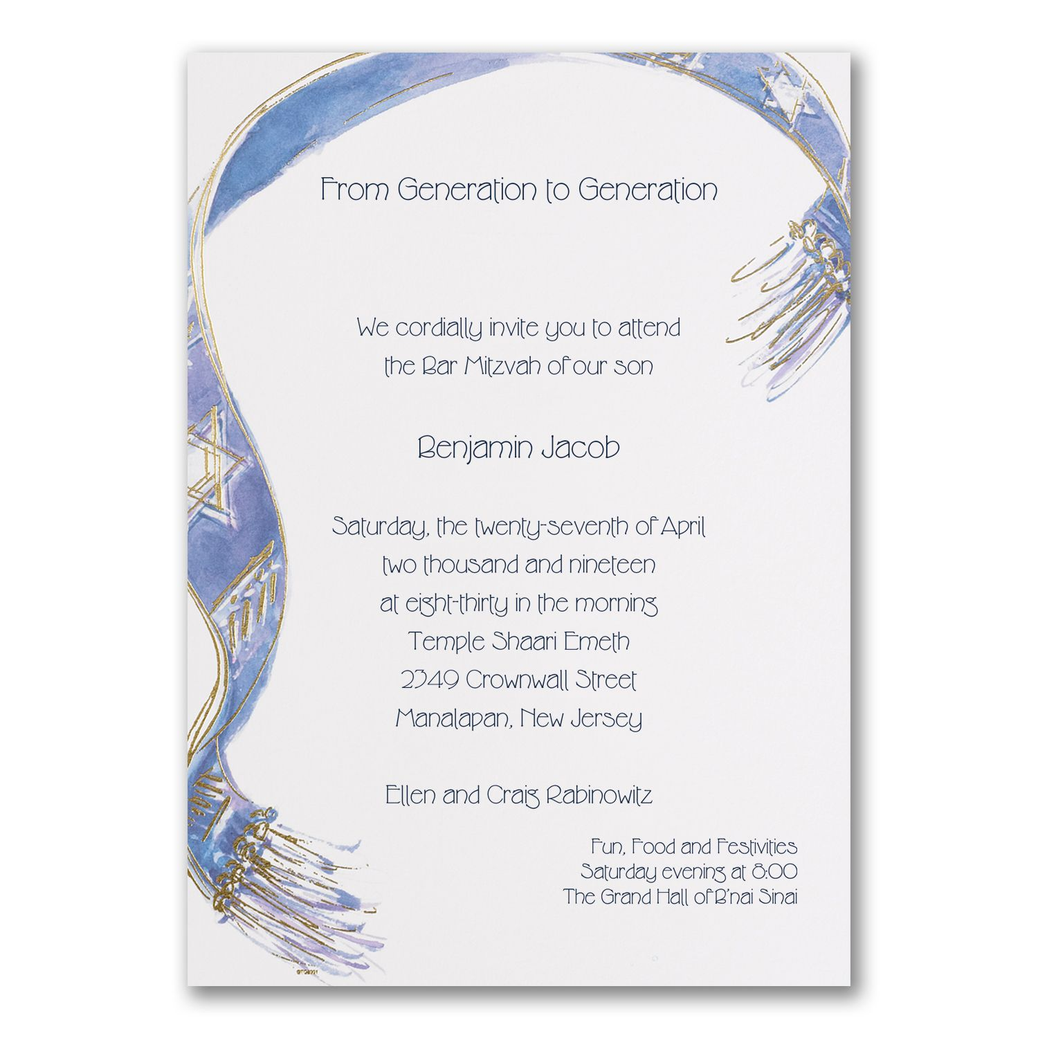 Bright white stock with a beautiful watercolor tallit ...