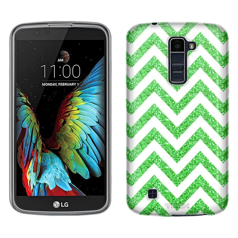 LG Premier LTE Chevron Green White Skim Case