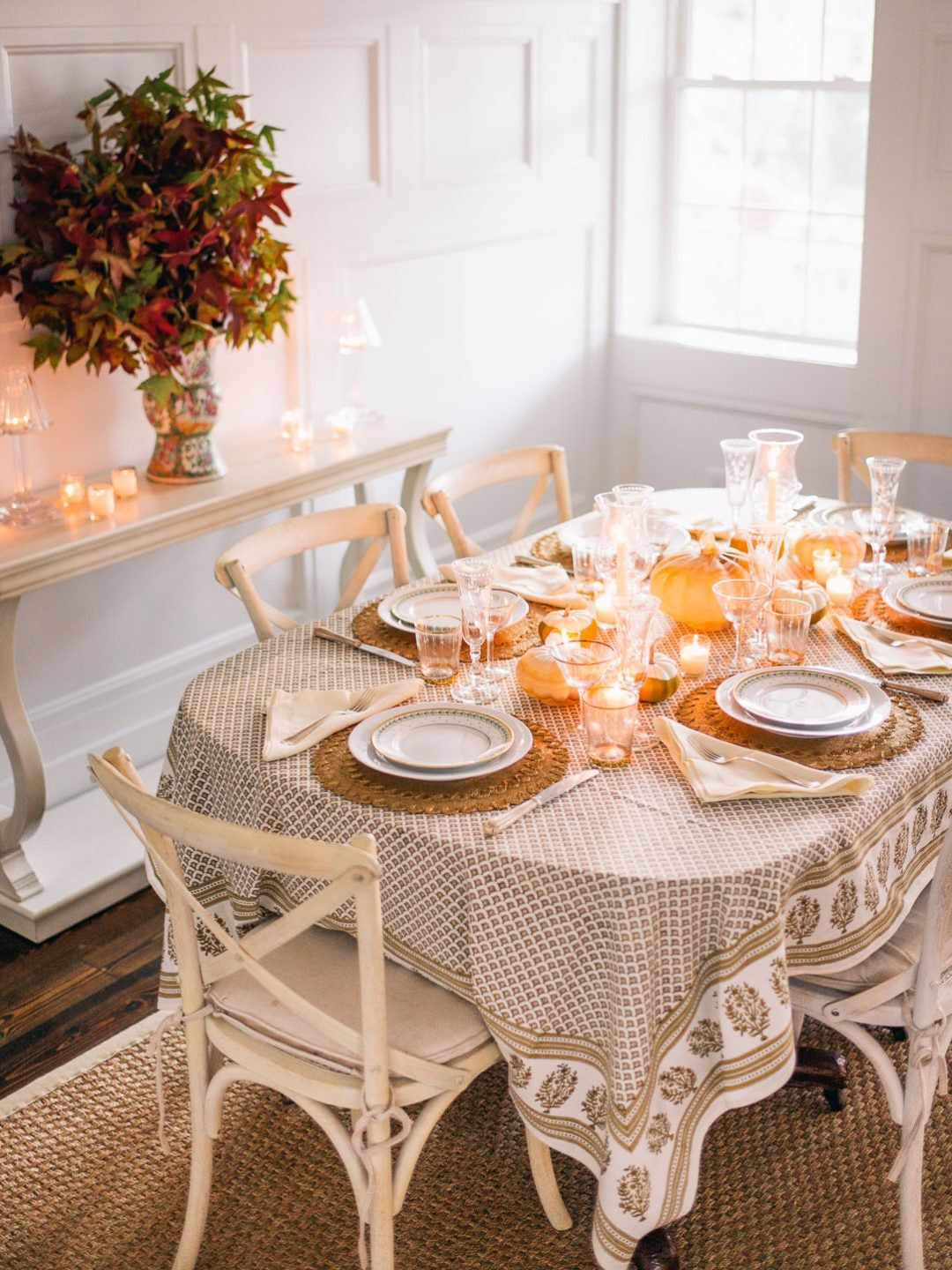 Elegant Halloween Table, Gold & Cream! | Lucy Cuneo