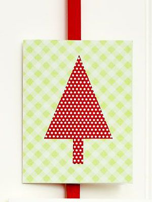 make a christmas tree triangle card