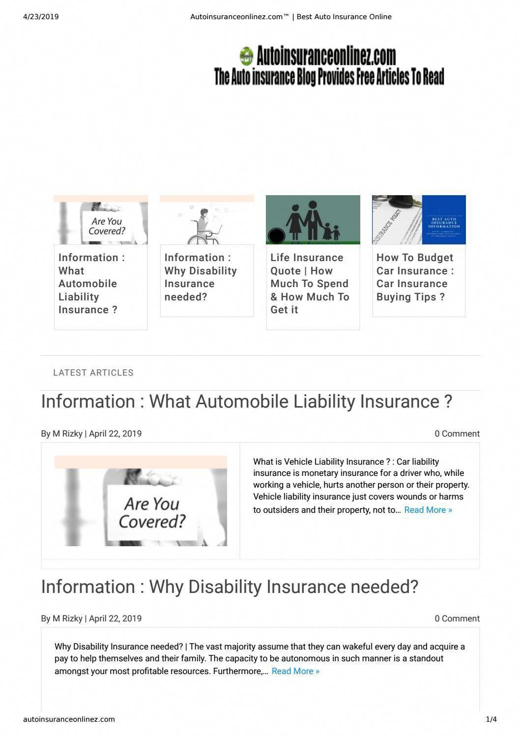Autoinsuranceonlinez Com Best Auto Insurance Online Car Insurance Life Insurance Quotes Online Life Insurance