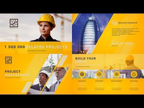 construction building presentation | after effects template, Presentation templates