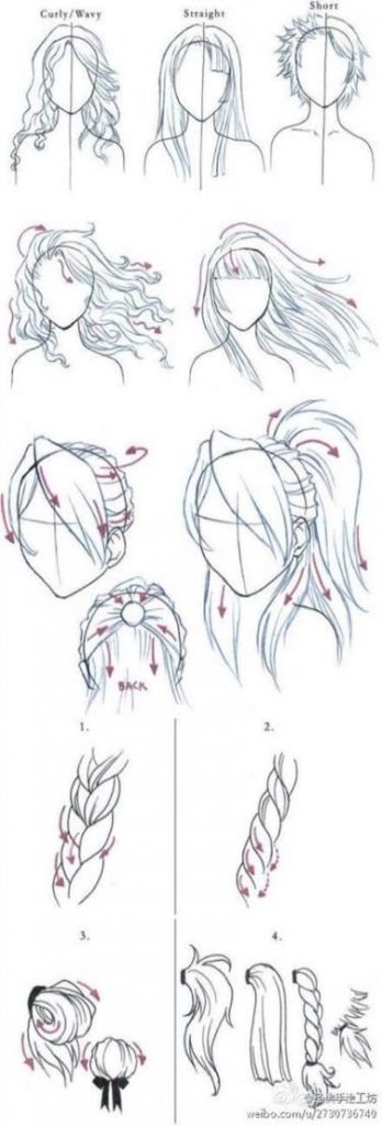 Photo of 30+ How to draw hair | Sky Rye Design