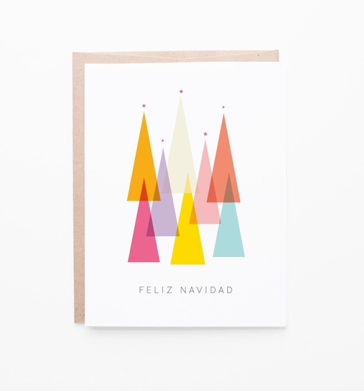Feliz Navidad Spanish Holiday Greeting Card Spanish Holidays