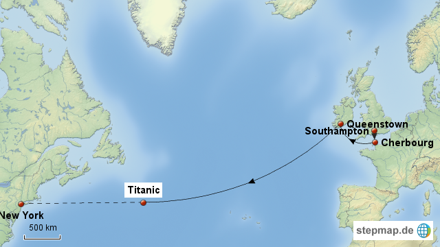 Map of Titanic Route - Yahoo Image Search Results | Ocean Currents ...