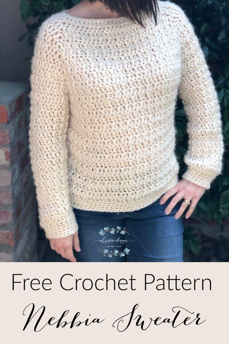 Photo of Nebbia Sweater Free Crochet Pattern