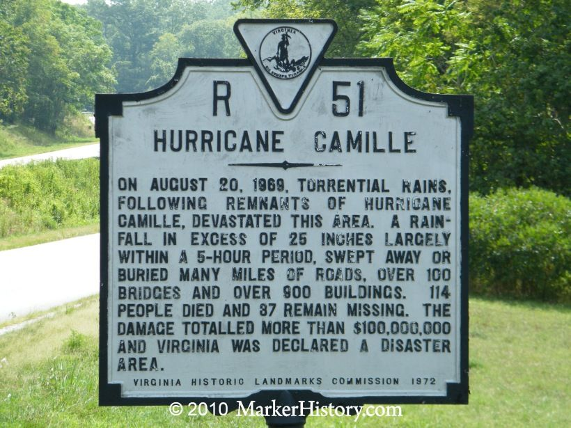 Image result for hurricane camille damages