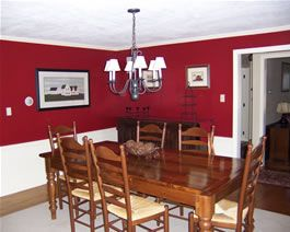I Like Chair Rails In The Dining Room, And I Am Seriously Considering  Painting Our Dining Room Wall Red.