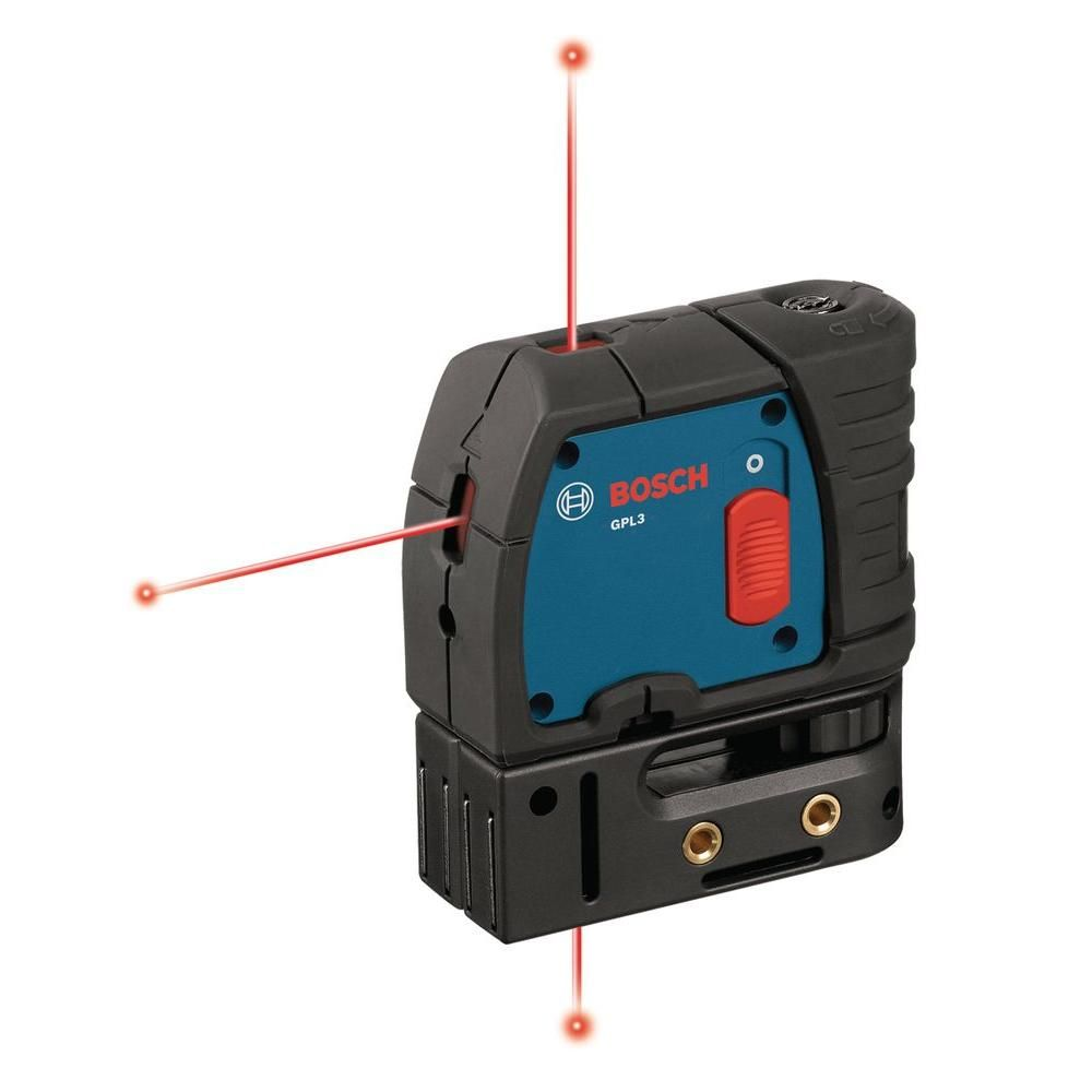 Bosch Factory Reconditioned 100 Ft Self Leveling 3 Point Laser Level With Mounting Strap And Belt Pouch Gpl3 Rt Laser Levels Bosch Tools Belt Pouch