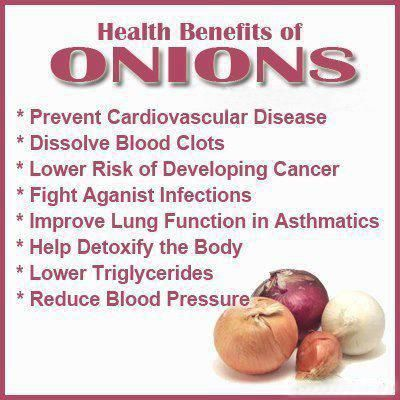 An onion a day keeps the doctor away! Forget the apples I stick to
