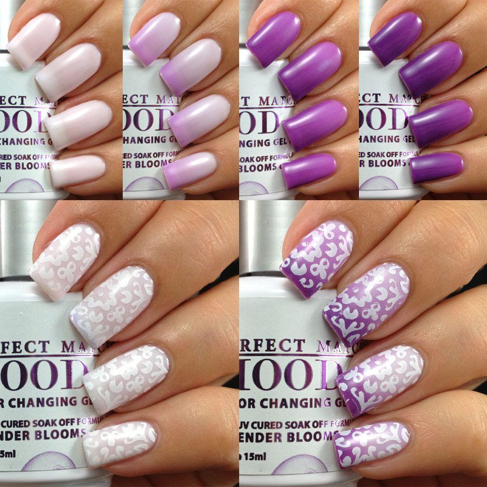 Lechat Lavender Blooms Mood Color Changing Gel Polish Mood Nail Polish Mood Changing Nail Polish Mood Changing Nails