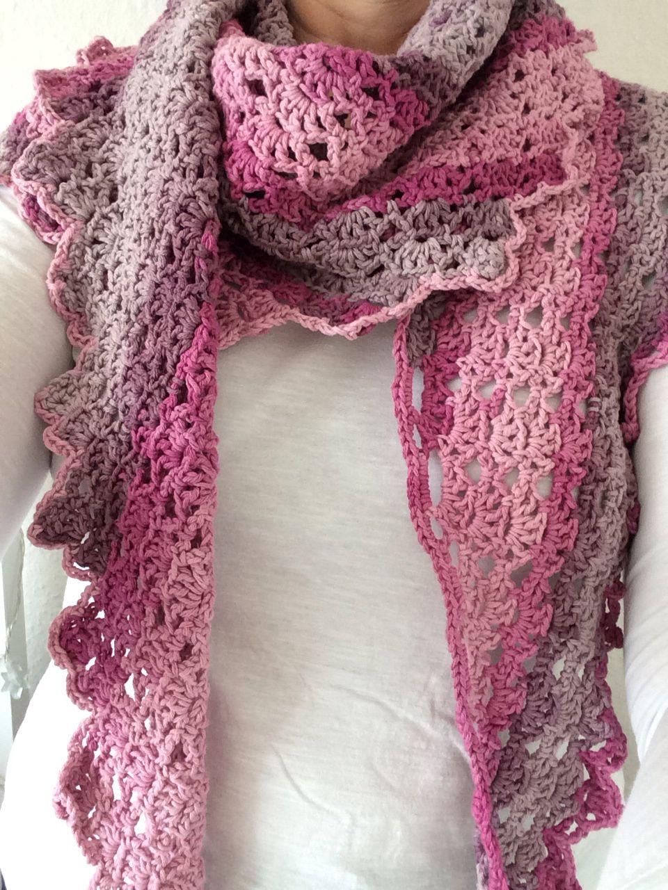 Drachenschal Gischt Häkeln Pinterest Crochet Crochet Scarves