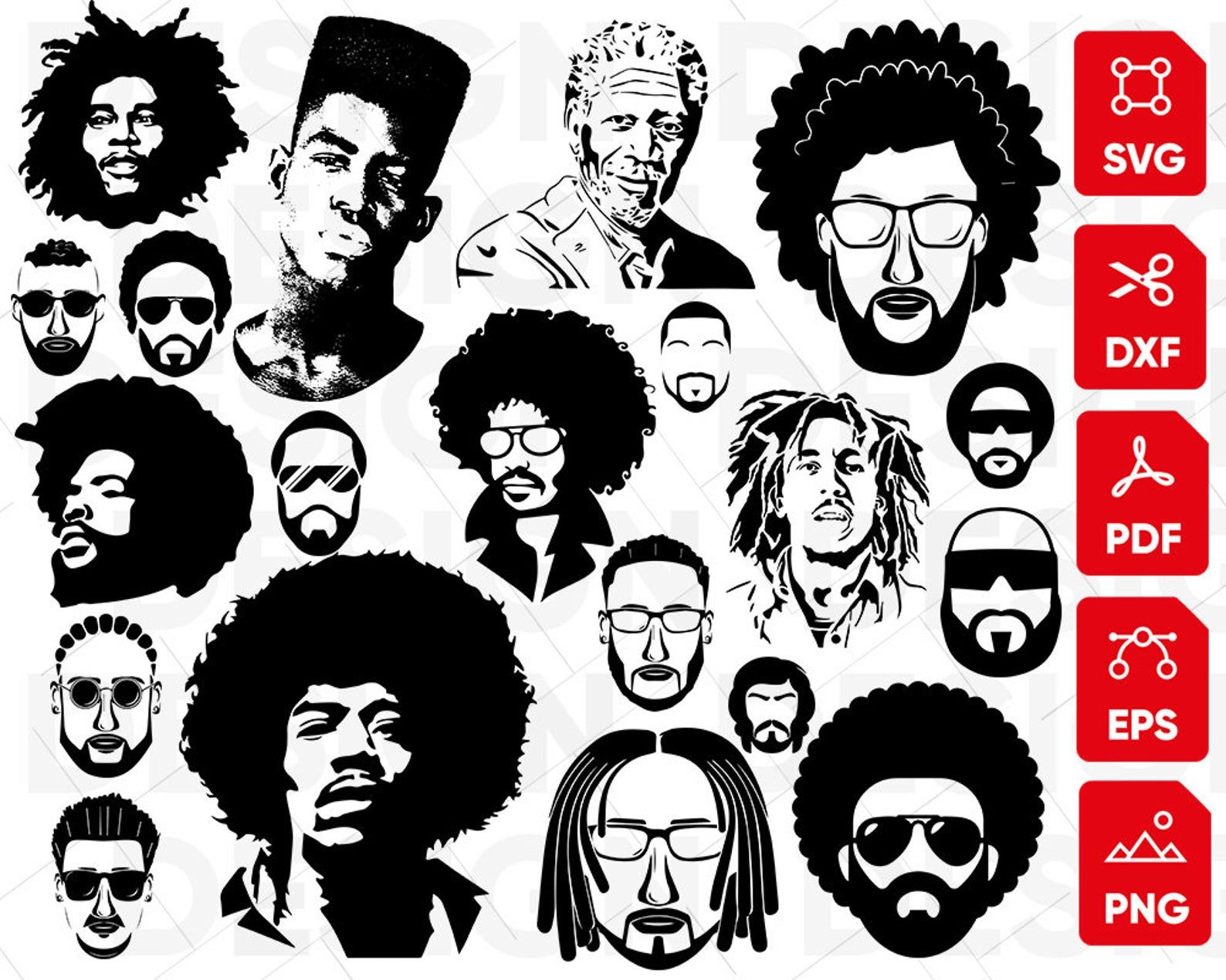 Afro Man Svg Black Man Svg African American Svg Afro Hair Etsy Afro Men Afro Afro Puff