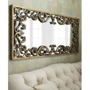 amazoncom ornate baroque full length gold scroll wall mirror extra large long dressing