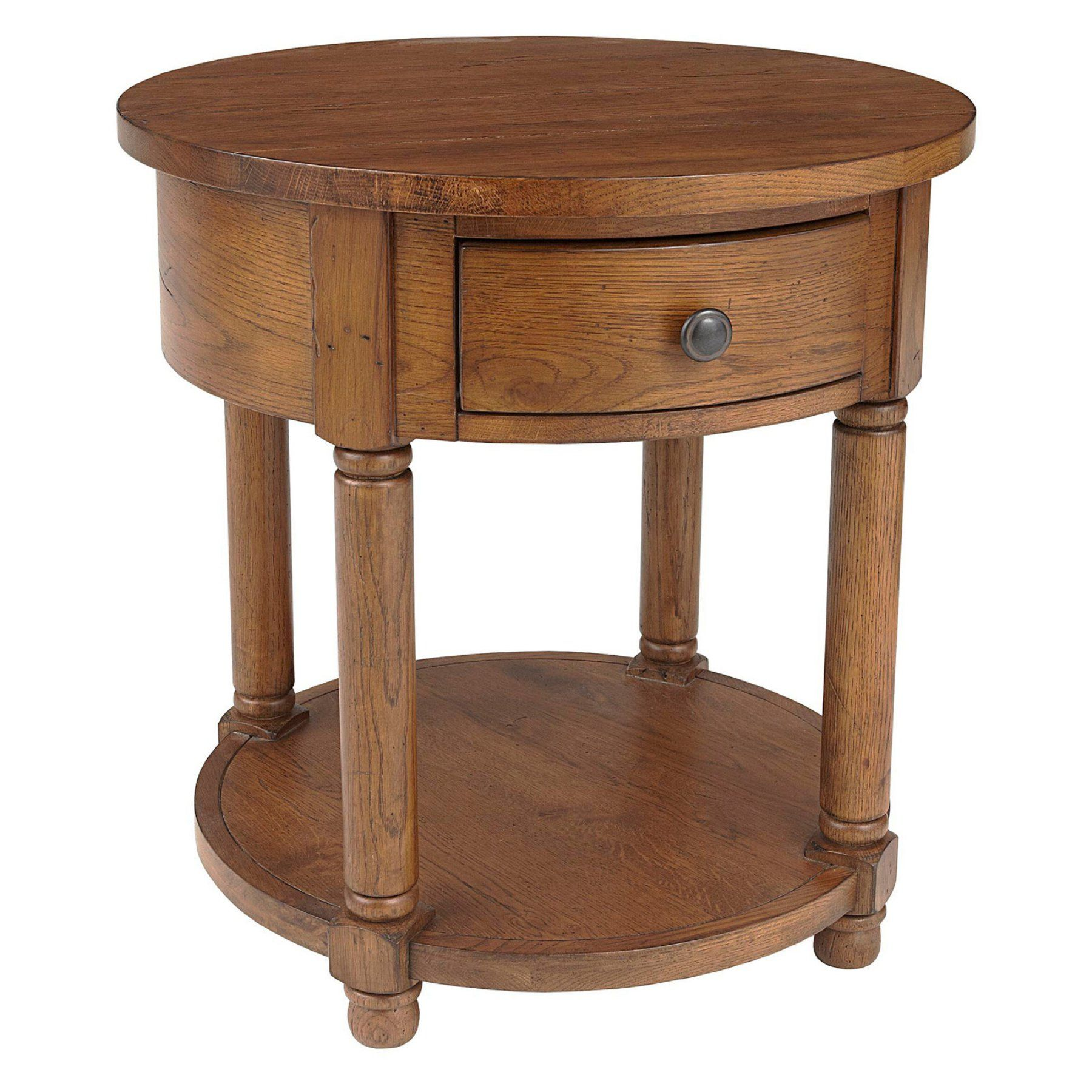 Broyhill Attic Heirlooms 1 Drawer Round End Table Broyhill Furniture Oak End Tables End Tables [ 1800 x 1800 Pixel ]