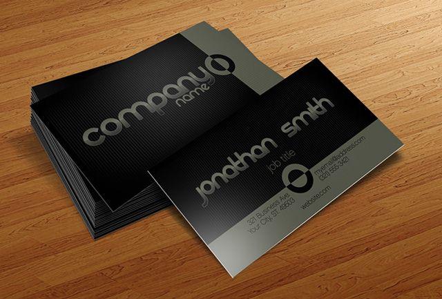 Basic Business Card Template By Cursiveq Designs Business Card Templates Download Business Card Psd Free Business Card Templates