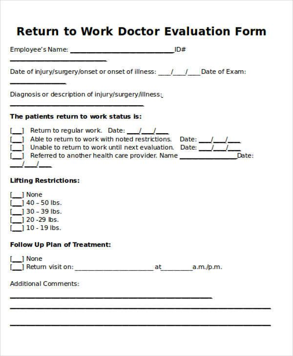 Return To Work Doctors Note Template | template | Pinterest | Notes ...