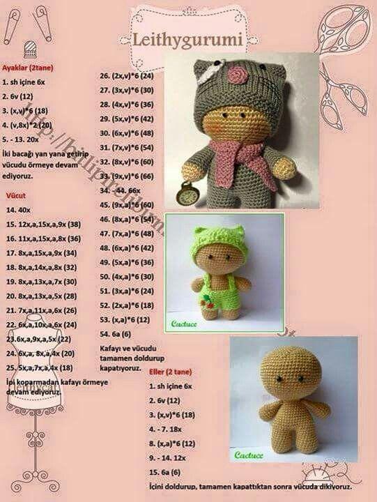 muñeco | infantiles | Pinterest | Patrones amigurumi, Patrones y ...