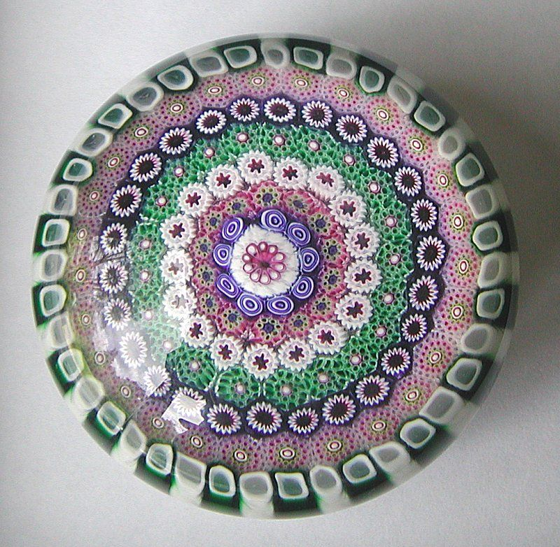 Perthshire Millefiori Paperweight from scholaertcassel on Ruby Lane