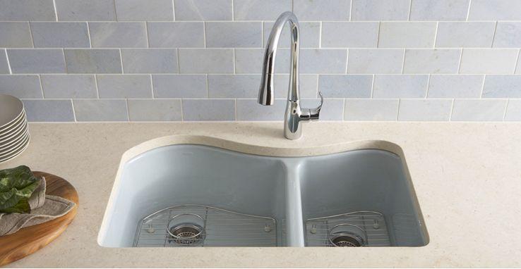 Kohler Enameled Cast Iron Kitchen Sinks Home Improvement