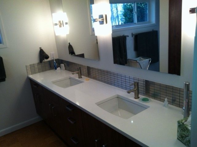Sleek Furnitures Of Quartz Bathroom Vanity Tops Ideas