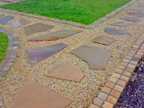 Garden Stepping Stones Ideas stepping stone path through grass outdoor ideasbackyard Quartzite Stepping Stones Garden Decor Ideas Some Creative Garden Stepping Stones Ideas To Beautify Your Yard