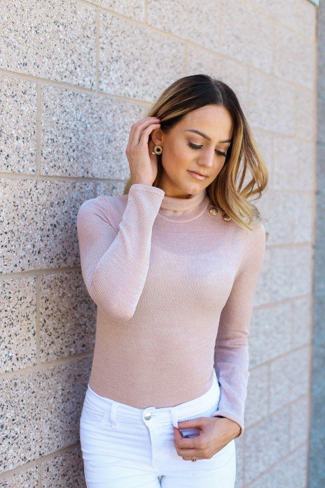 Blush bodysuit styled by Jenessa Sheffield
