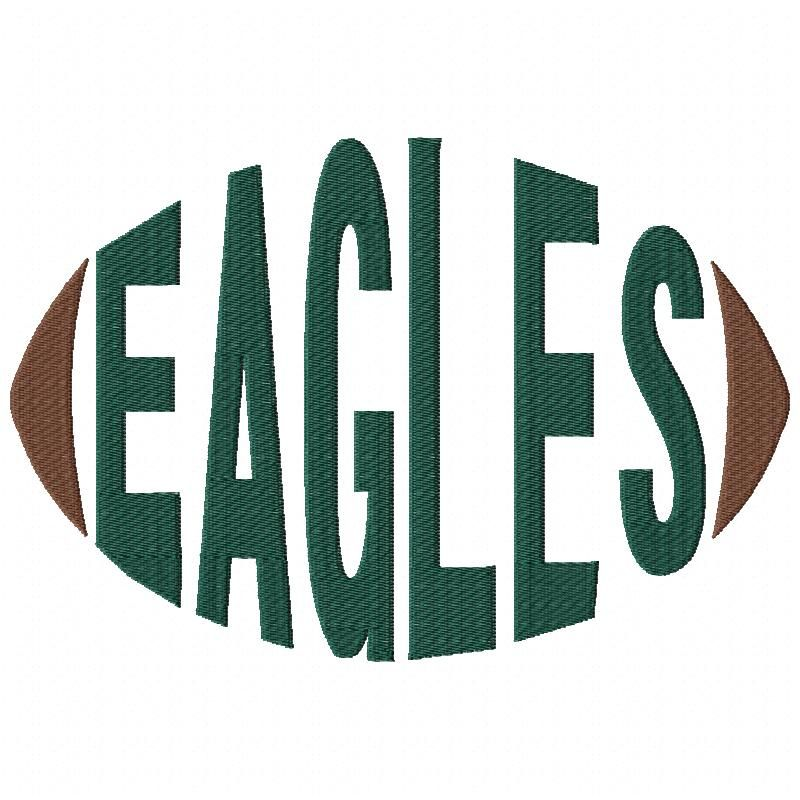 Eagles Football Word Machine Embroidery Design Embroidery Designs