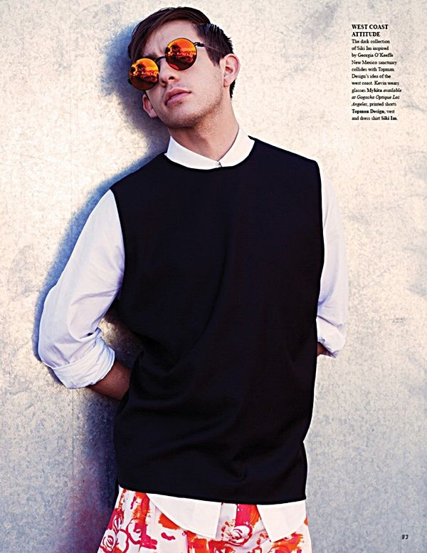 TAONIC   Moda Masculina: Kevin McHale para Fashionisto Magazine