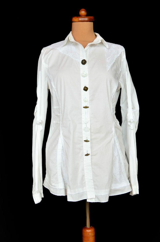 Elisa Cavaletti Shirt Button White Bottega Cotton Blouse MSUzpV