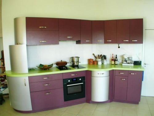 Une cuisine aux teintes originales et pleine de pep\u0027s par Artisans - Photo Cuisine Rouge Et Grise