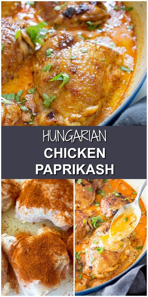 Hungarian Chicken Paprikash Recipe   BEST Chicken