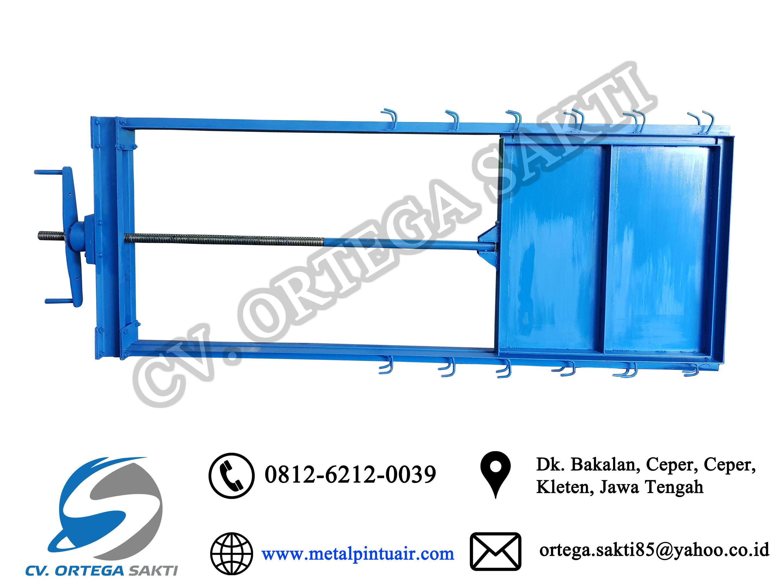 Pintu Air Engkel Pintu Air Single Horizontal Irigasi Produk Pintu