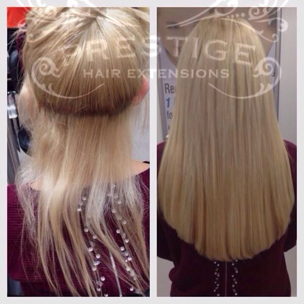 Remy Aaaa Keratin Bonded Prestige Hair Extensions Fitted At Our