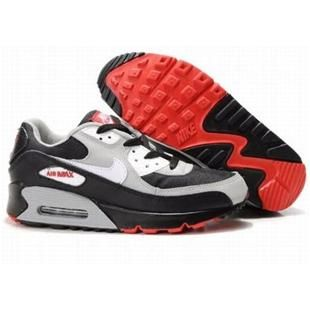 newest 52715 b637d Cheap Purchase Nike Air Max 90 Mens Premium Trainers Black Grey Red And White  Sneaker Online Shop Store