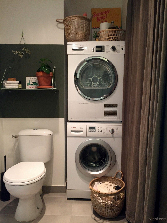 aménager un wc buanderie esprit green | buanderie | pinterest