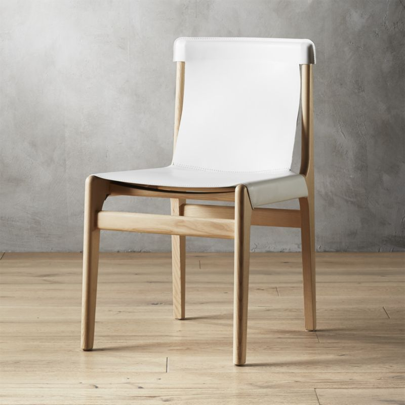 Burano White Leather Sling Chair Reviews Furniture Dining