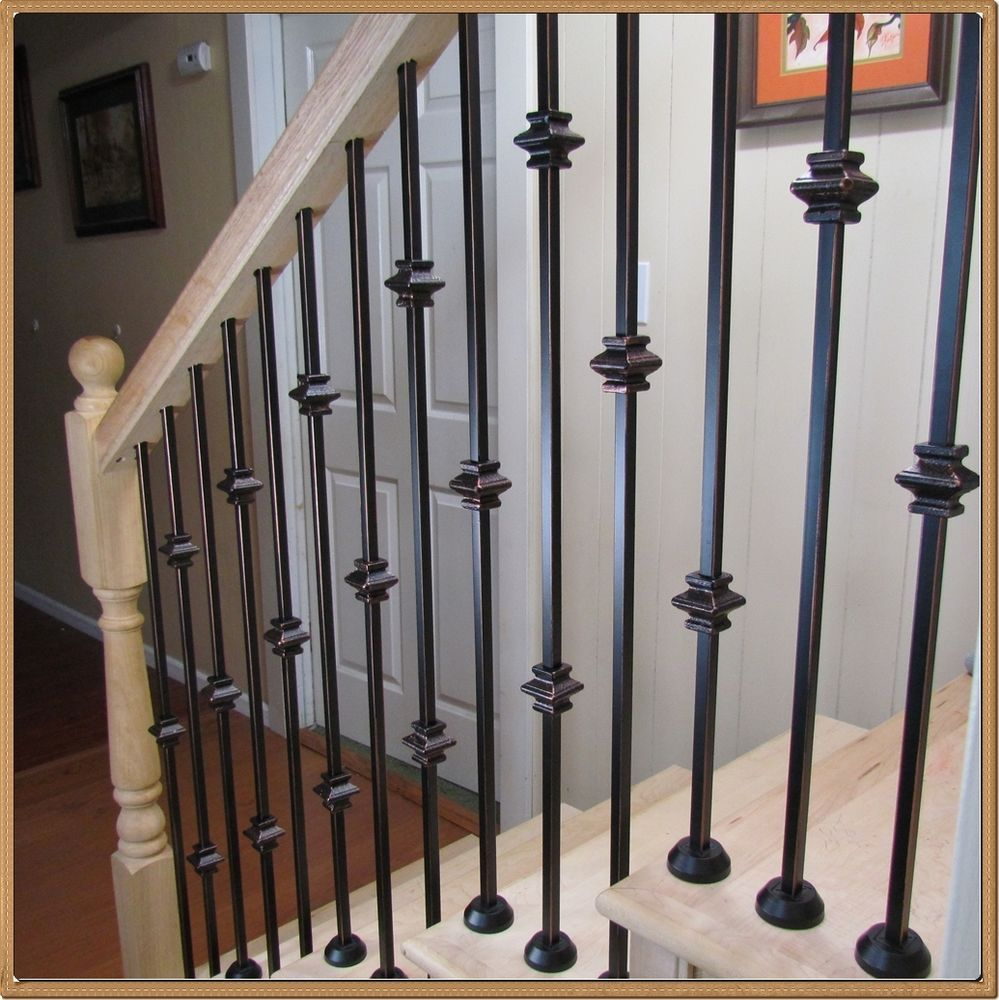Best Powder Coated Iron Balusters For Stairs And Balconies Iron Stair Parts Balusterstore Iron 400 x 300