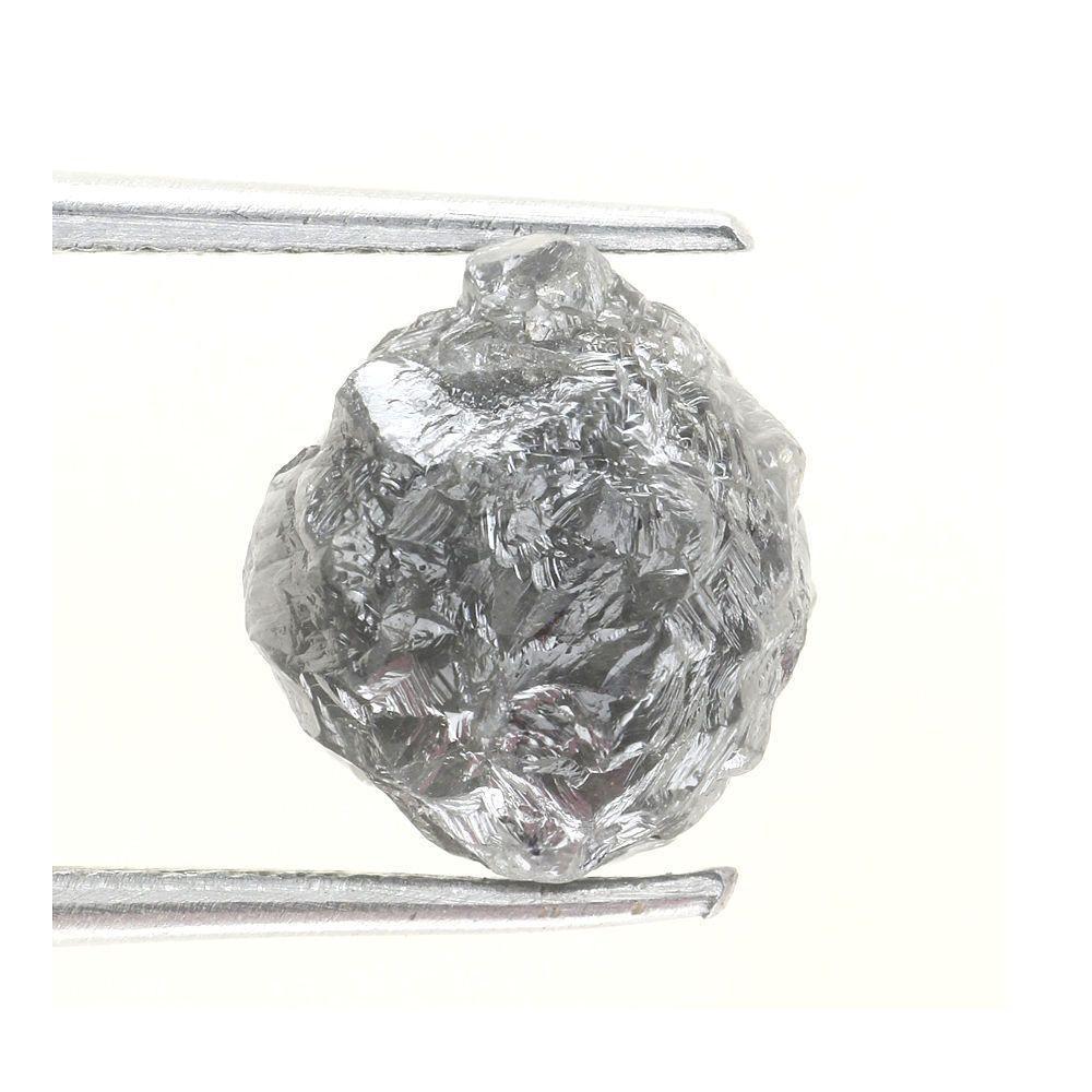 2.98 ct Natural loose Diamond Rough Natural Shape Grayish Color
